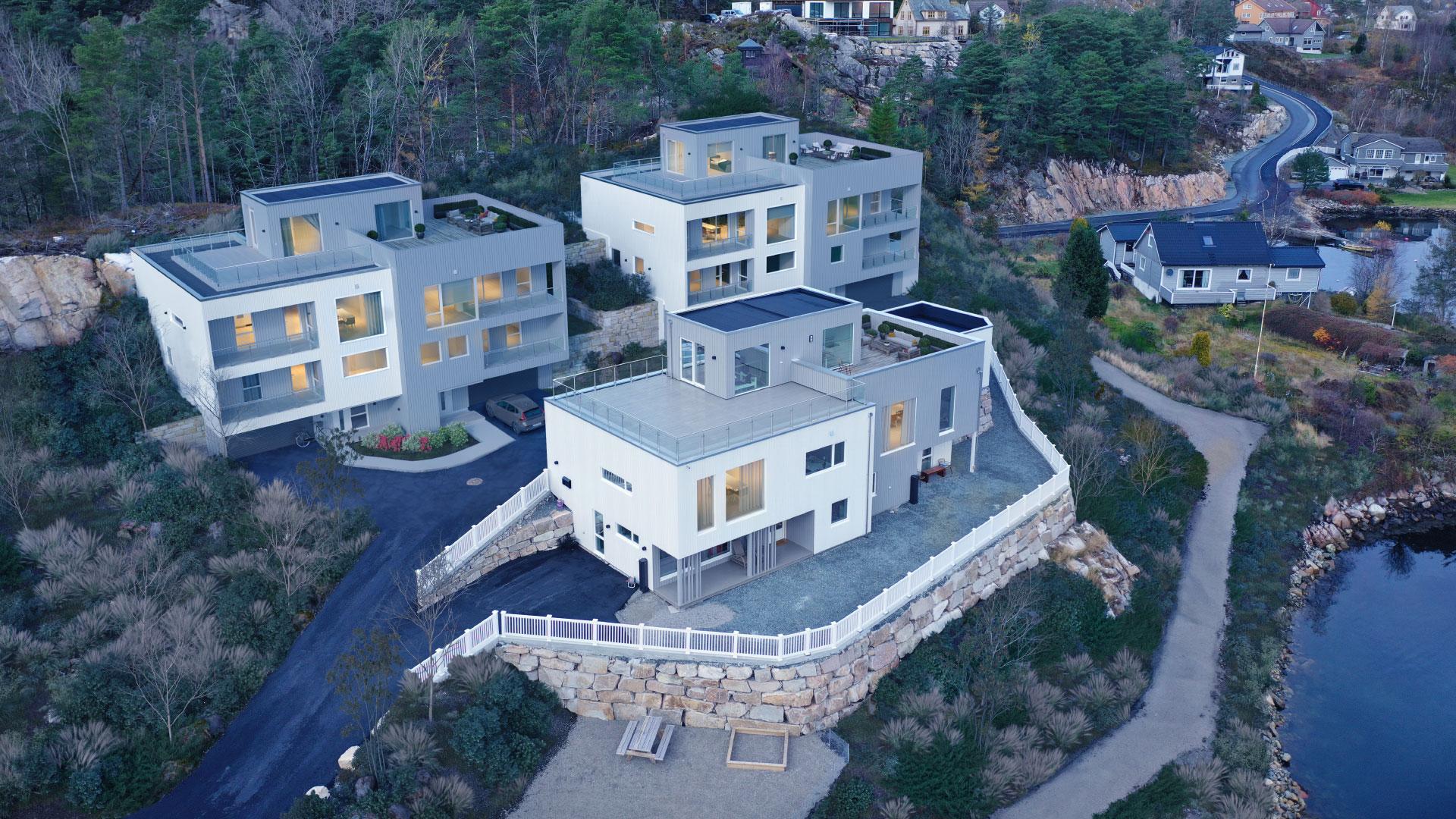Bilde av boligbyggingsprosjektet Bergneset