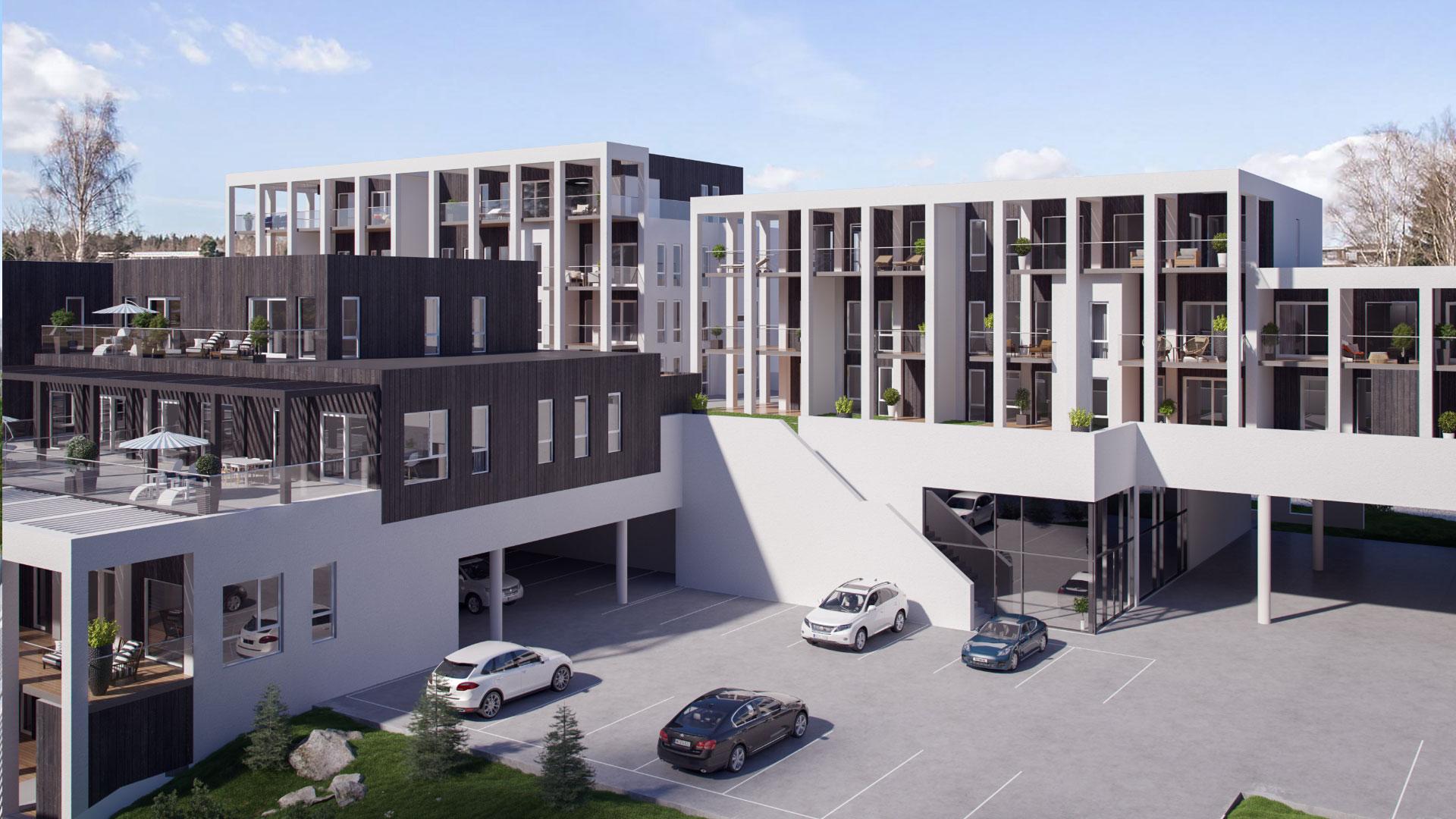 Bilde av boligbyggingsprosjektet Hellandskollen
