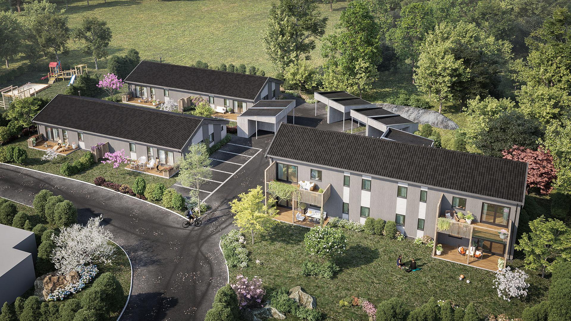 Bilde av boligbyggingsprosjektet Øverhamninga